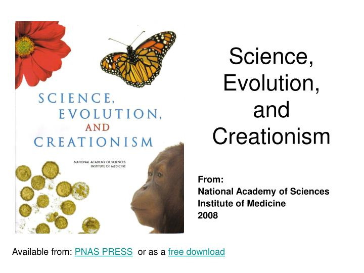 science evolution and creationism n.