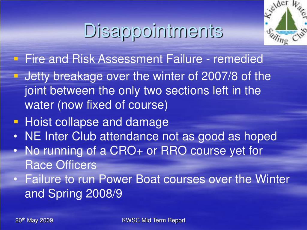 Disappointments