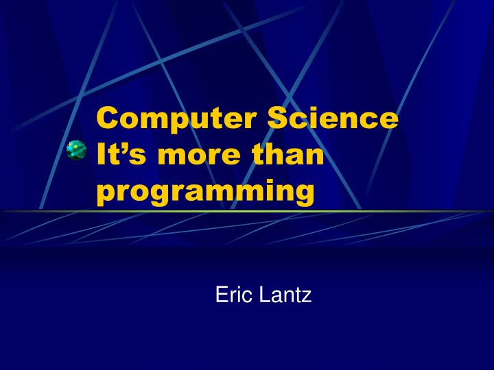 computer science it s more than programming n.