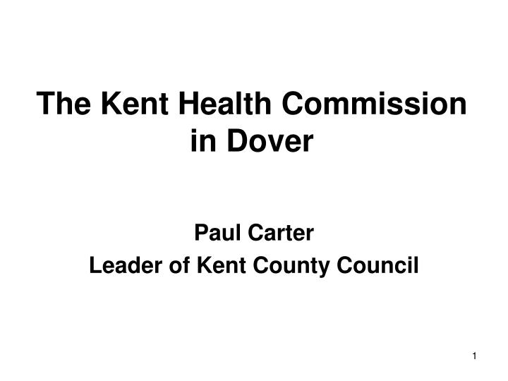 the kent health commission in dover n.