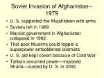soviet invasion of afghanistan 1979