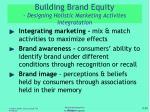 building brand equity designing holistic marketing activites integratation