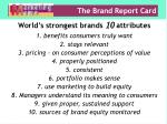 the brand report card