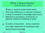 what is brand equity defining brand equity1