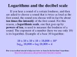 logarithms and the decibel scale