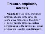 pressure amplitude intensity