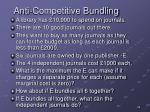 anti competitive bundling