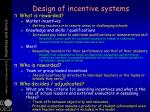 design of incentive systems1