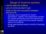 design of incentive systems2