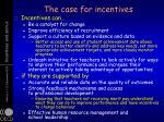 the case for incentives1