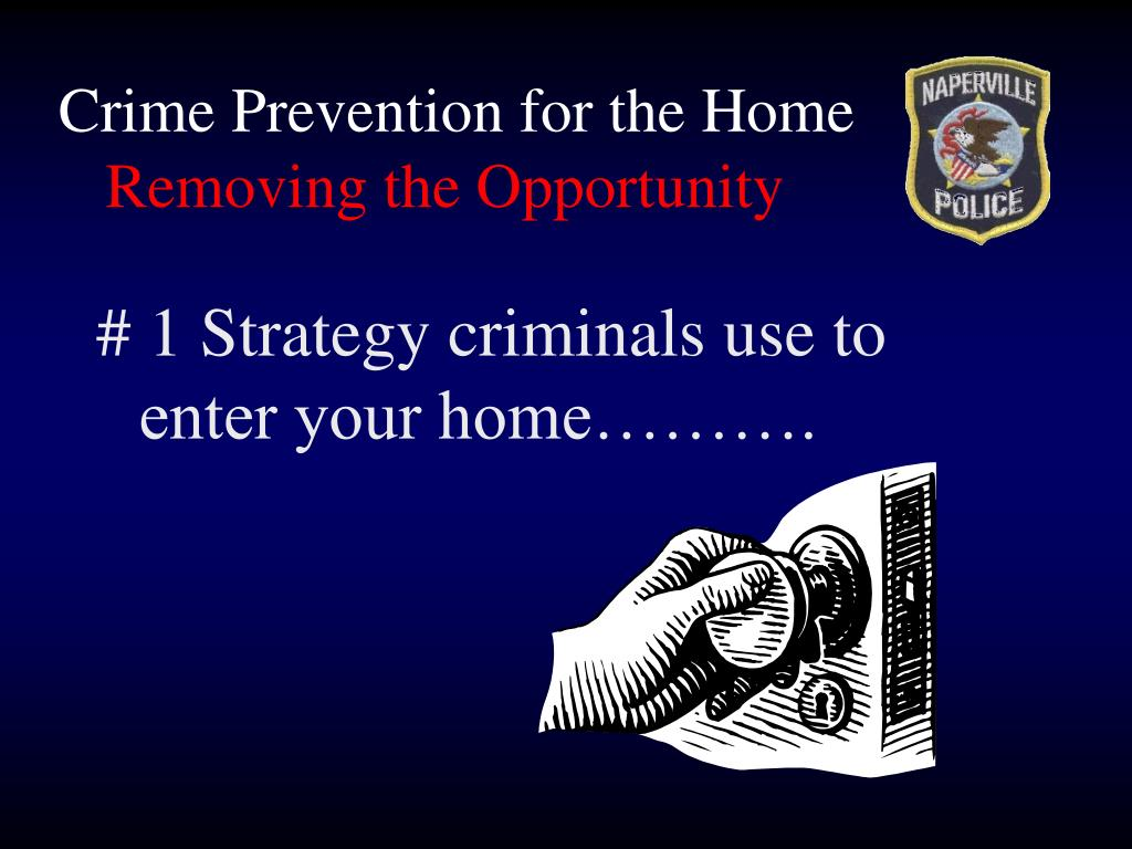 Crime Prevention for the Home