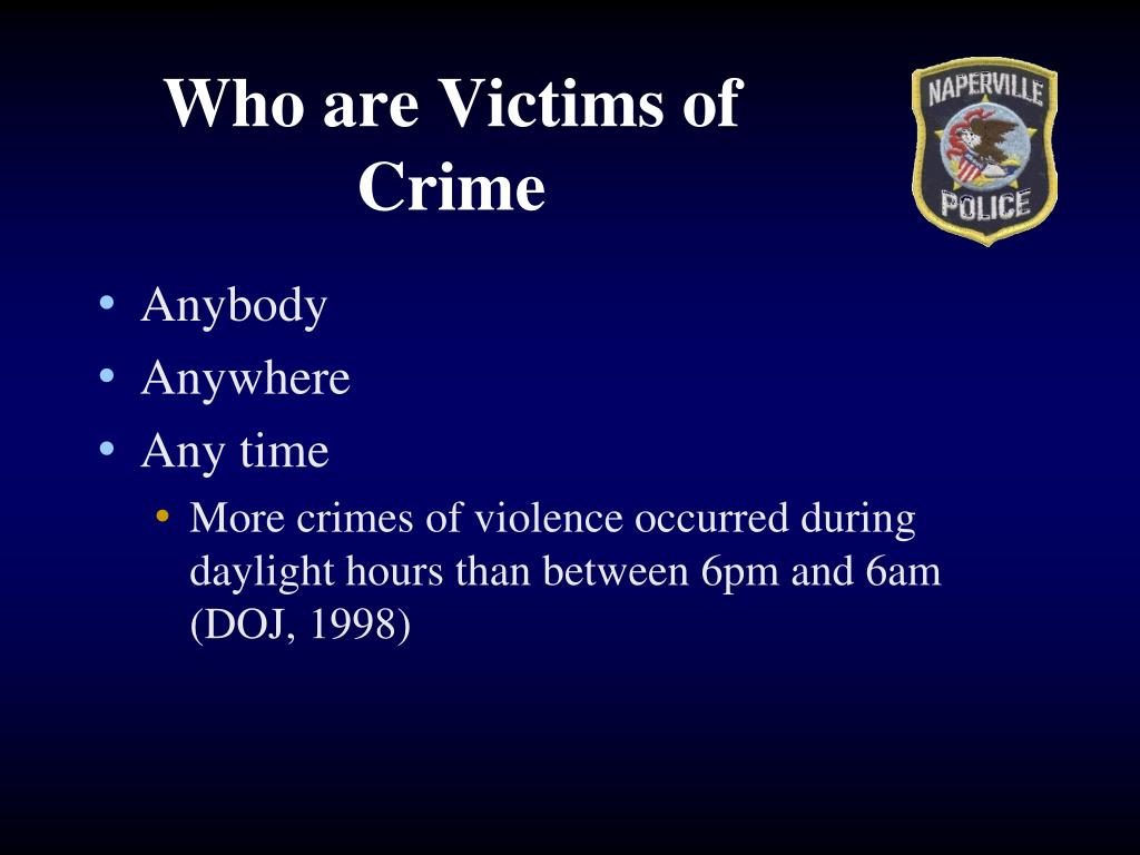 Who are Victims of Crime
