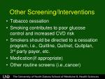 other screening interventions