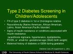 type 2 diabetes screening in children adolescents1
