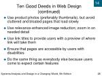 ten good deeds in web design continued