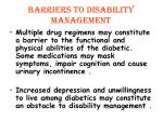barriers to disability management1