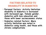 factors related to disability in diabetics1