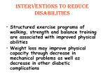 interventions to reduce disabilities1
