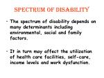 spectrum of disability