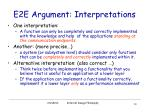 e2e argument interpretations