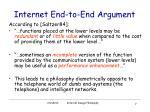 internet end to end argument