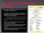 consistent carbohydrate menus