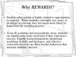 why rewards