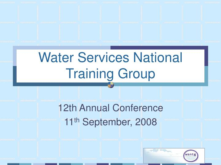 water services national training group n.
