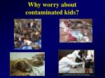 why worry about contaminated kids