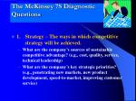the mckinsey 7s diagnostic questions