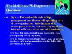 the mckinsey 7s diagnostic questions5