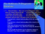 the mckinsey 7s diagnostic questions6
