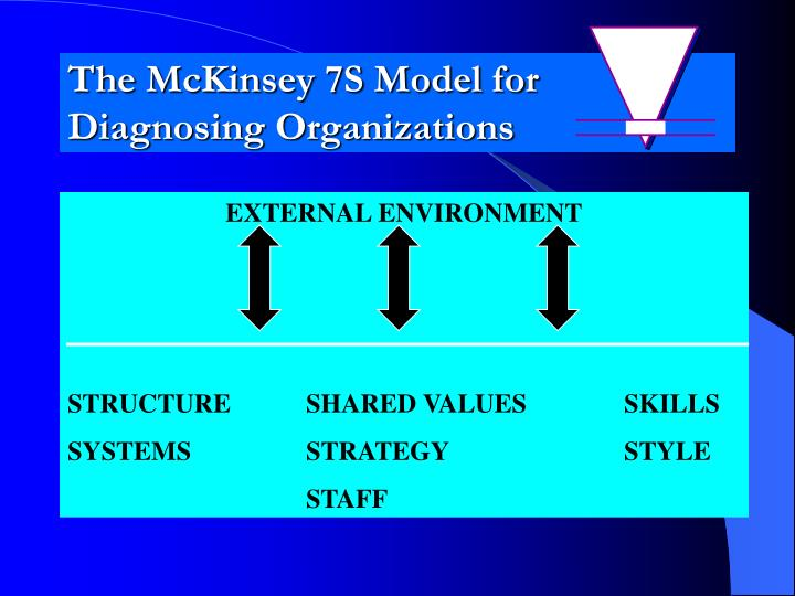 the mckinsey 7s model for diagnosing organizations n.