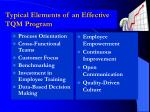 typical elements of an effective tqm program