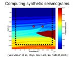 computing synthetic seismograms