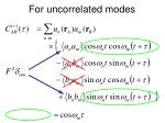 for uncorrelated modes1