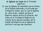 la iglesia es cono de la trinidad significa