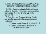 la renovaci n eclesiol gica la constituci n lumen gentium