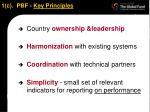 1 c pbf key principles