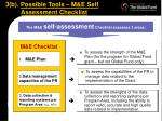 3 b possible tools m e self assessment checklist1
