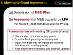 4 moving to grant agreement