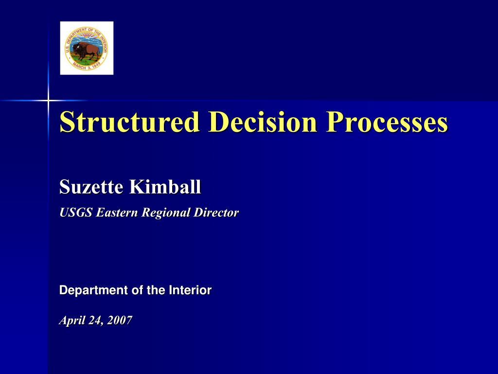 structured decision processes l.