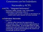conexiones con los est ndares nacionales y actfl