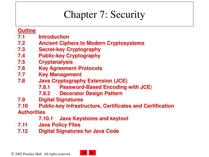 chapter 7 security n.