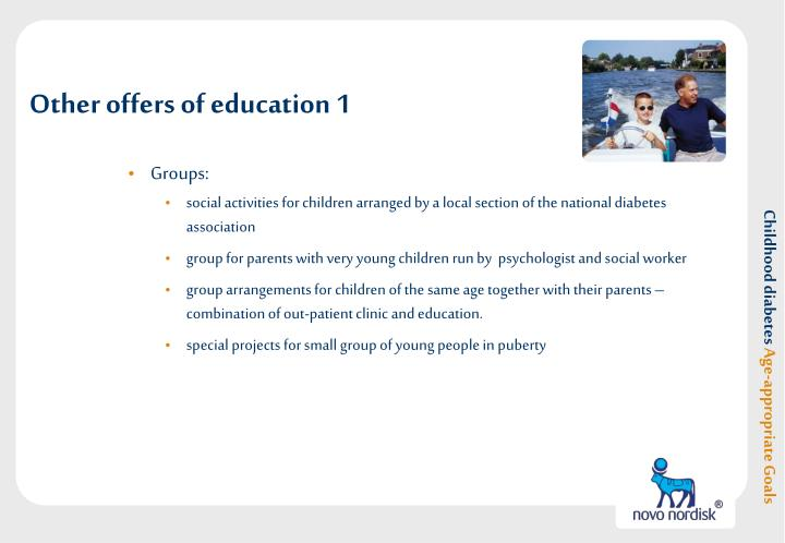 Other offers of education 1
