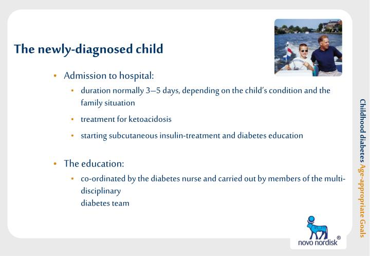 The newly diagnosed child