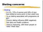 dieting concerns