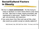 social cultural factors in obesity