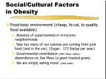 social cultural factors in obesity1