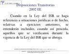 disposiciones transitorias 2002 iii